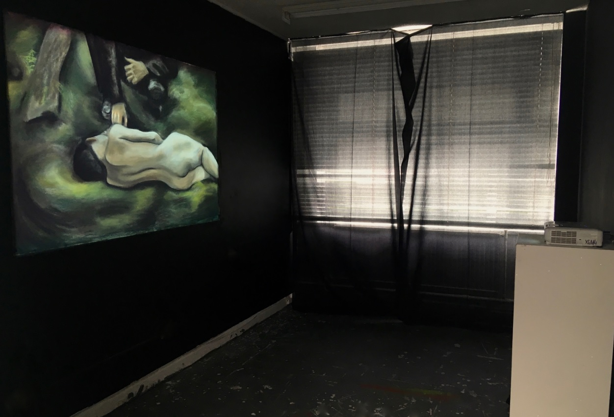 'Still Cinema', pastels on paper illuminated by a projector