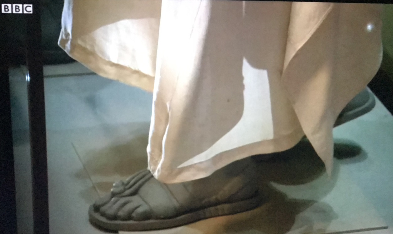 Emily's Lawrence of Arabia sandals featured on the BBC