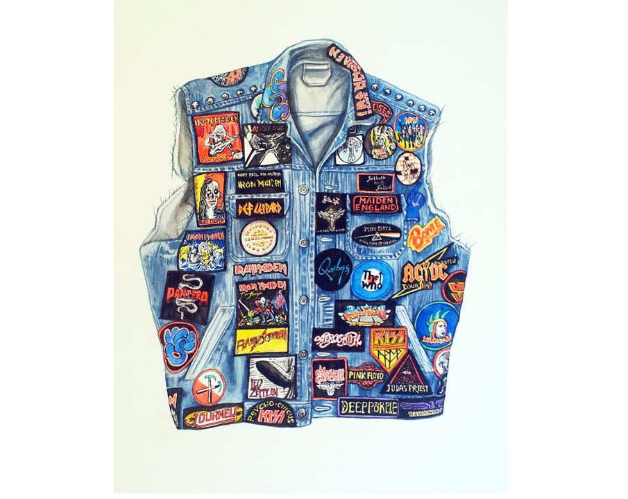 Tom Cardwell, Aiden's Jacket, 2015, watercolour on paper.