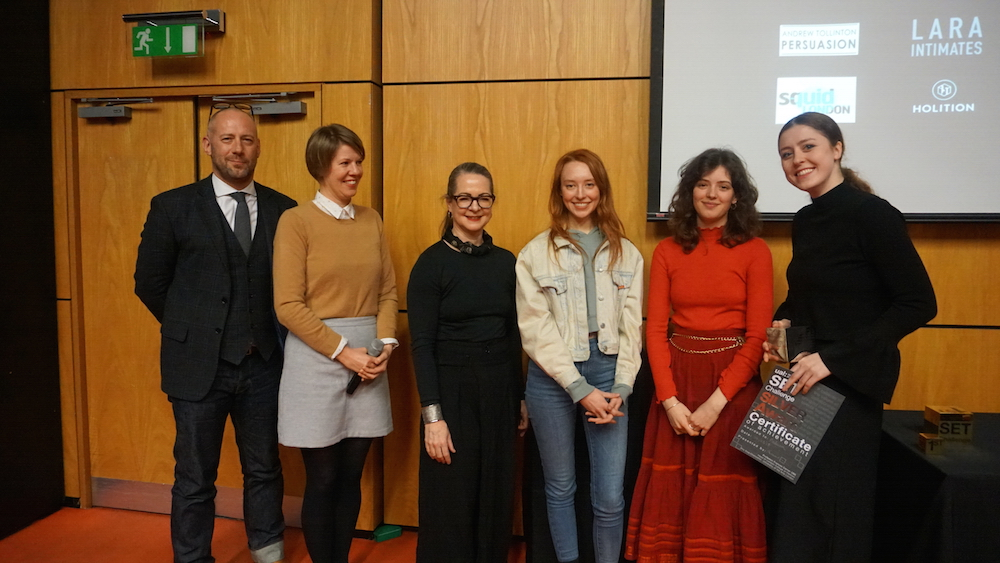 BA (Hons) Fashion Contour student Kristina Kuiken was awarded 2nd Prize for her presentation of Podium.