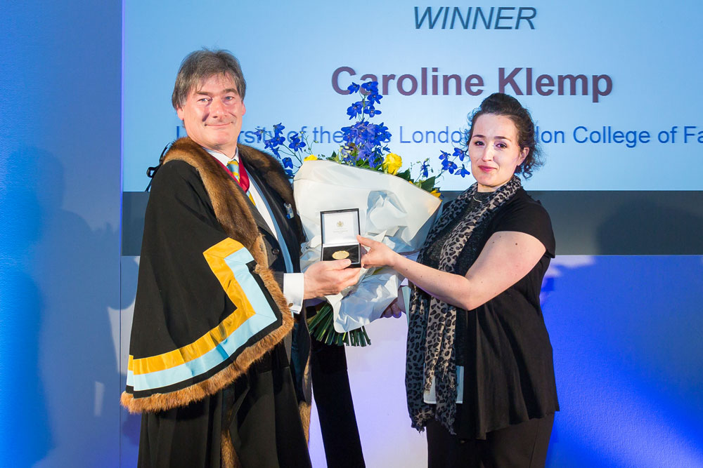 Caroline Klemp winner of the 2016 Cordwainers National Student Footwear Awards