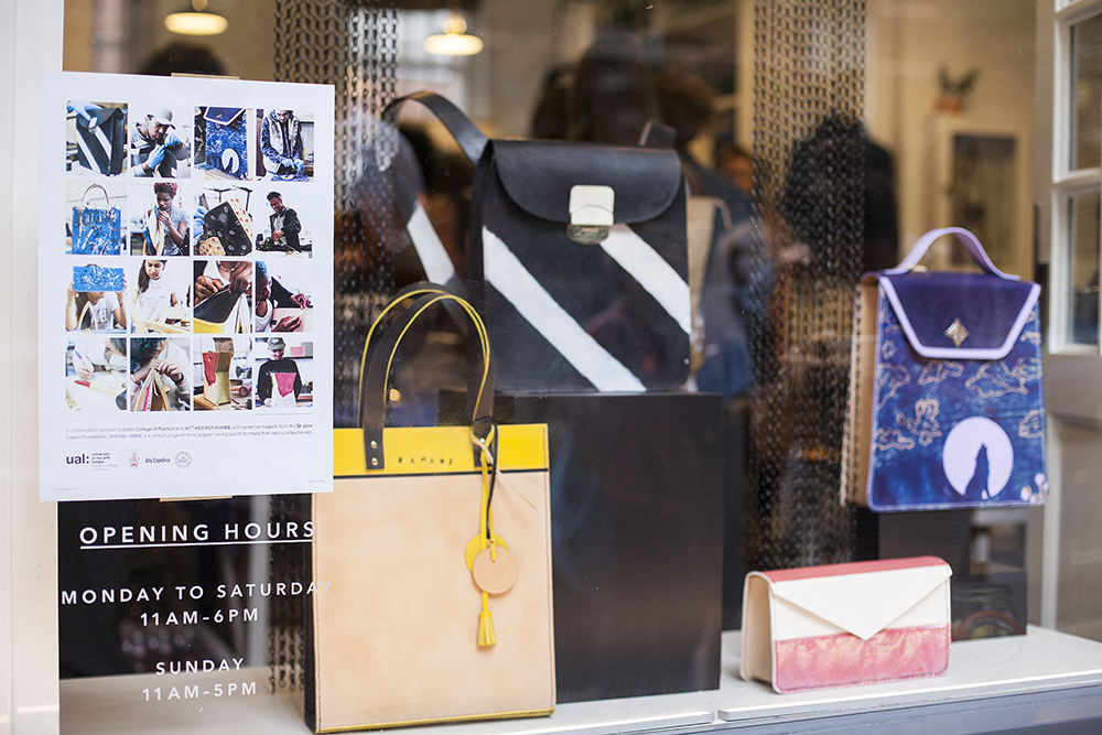 Design+Make Student work on display at the Ally Capellino store.