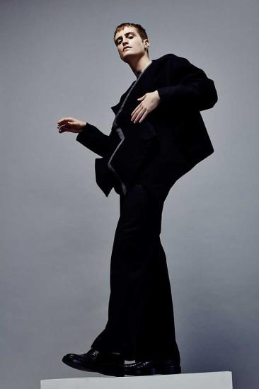 Menswear by Cyanne WingYan Sze, BA (Hons) Fashion Design and Development. Men's Knitwear by Marco Milani, BA (Hons) Fashion Textiles: Knit. Photographer: James Rees , Creative Direction: Rob Phillips, Hair: Ezana Ové, Beauty: Kirsty Gaston
