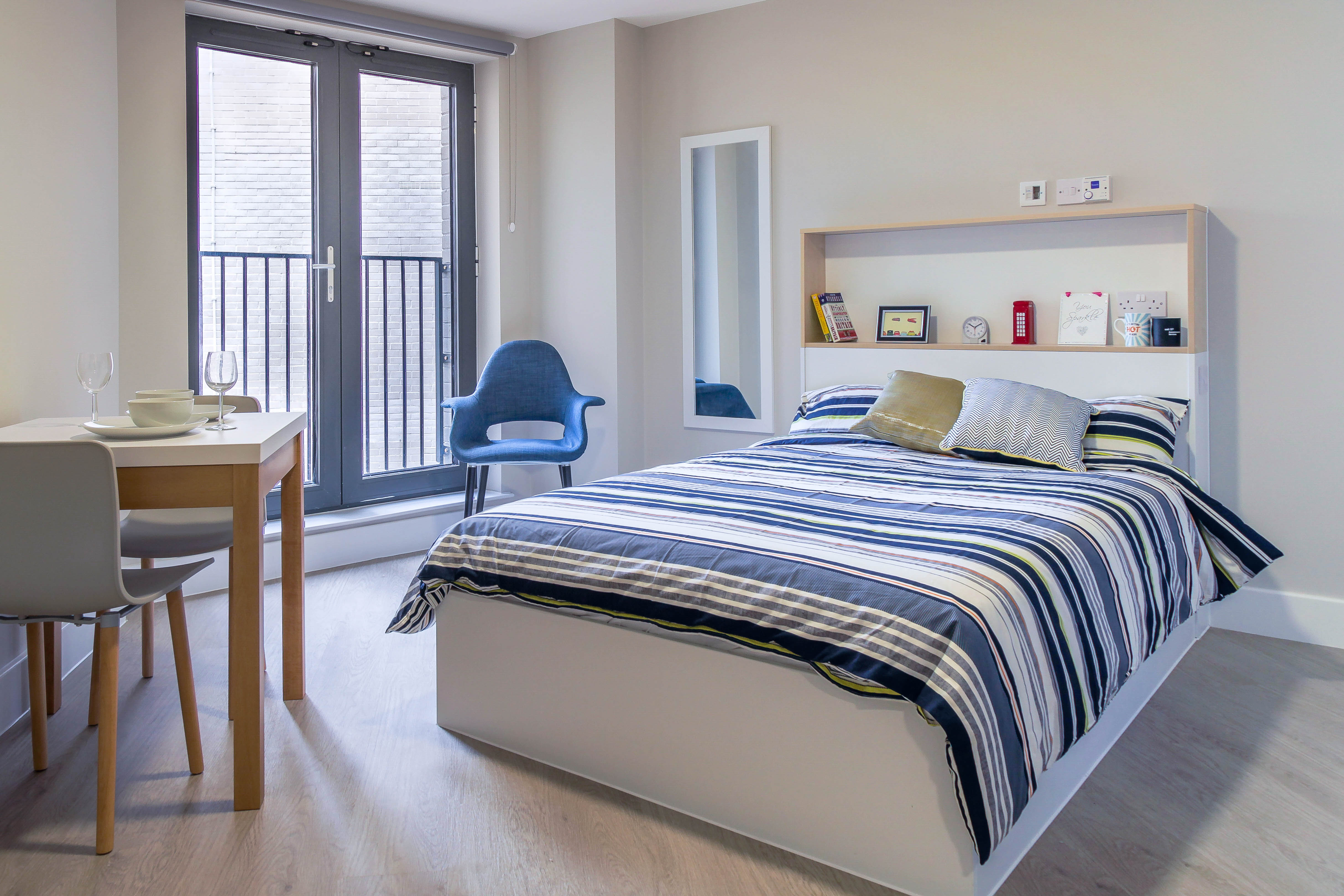 Photo Of A Double Bed In Student Room In Sketch House