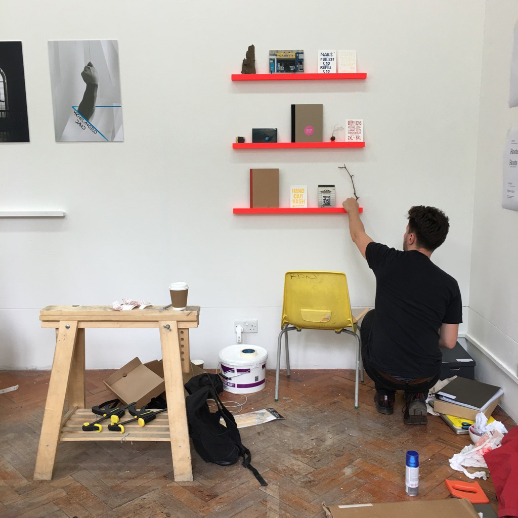 Charlie Wrightson installing for FdA Summer Show