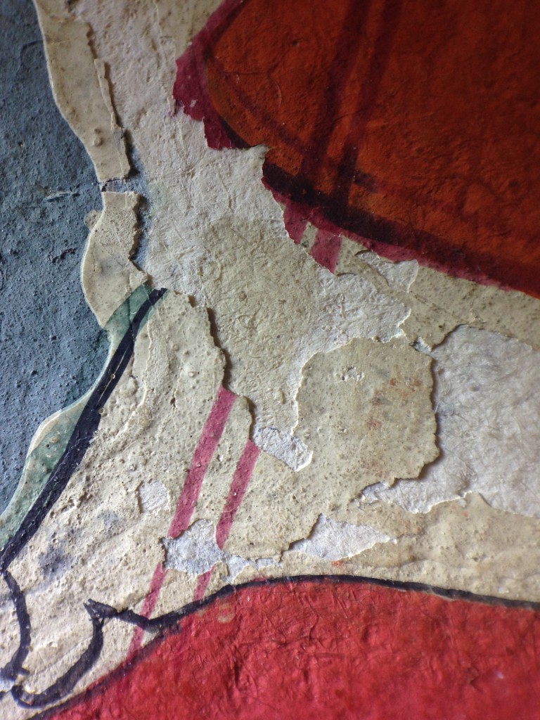 Another detail of paint on the Royal Asiatic Society prints