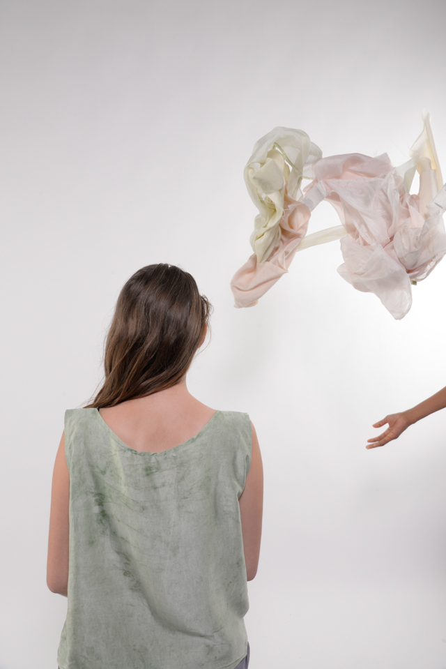 Julia Ast with Luisa's dyed silks