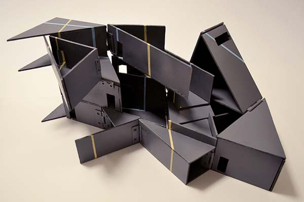 Dolls' house model by Bianca Soberano, BA Interior & Spatial Design