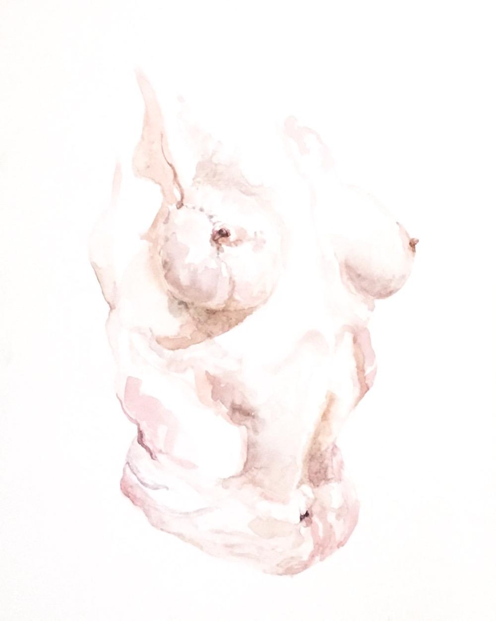 Tickled Pink by Fashion Illustration graduate Nina Miles Hilpern.