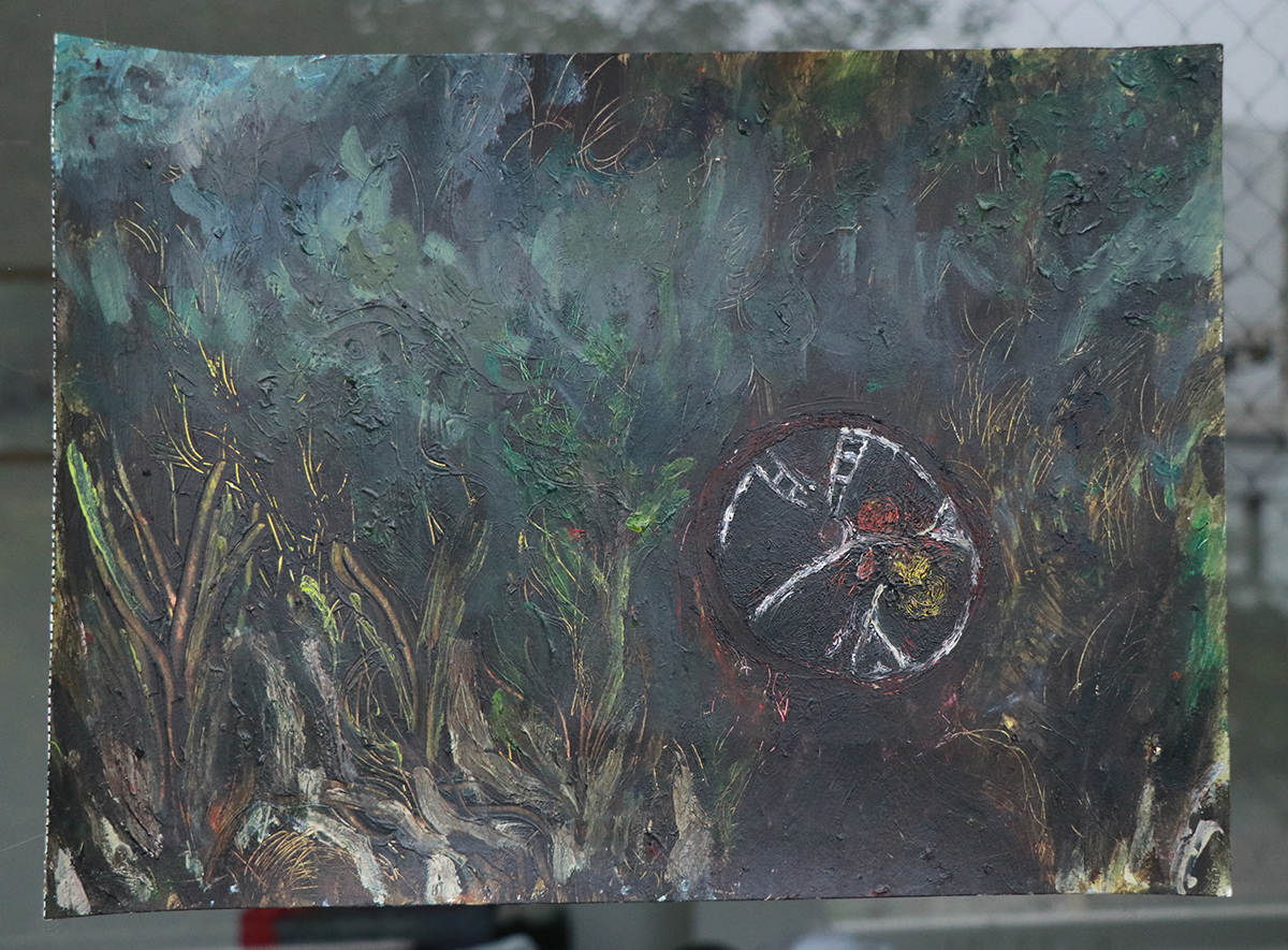 A painting done by Silvana Rosan