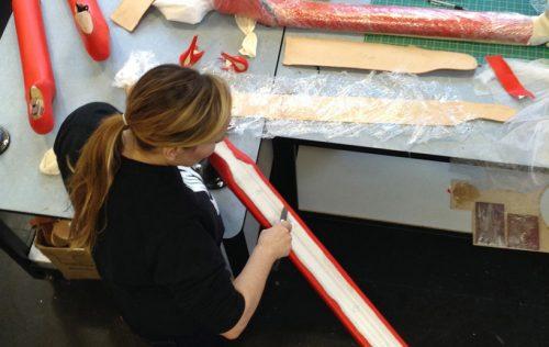 Jo Cope working in her studio