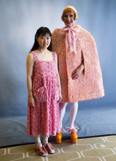 UAL Chancellor Grayson Perry's 2018 Robes designed by London College of Fashion UAL student YuxuanYang Photo by In-Press Photography