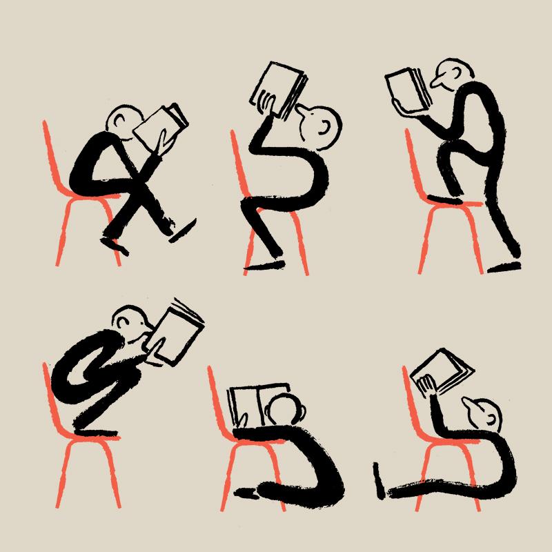 Reading - Work by artist Jean Jullien