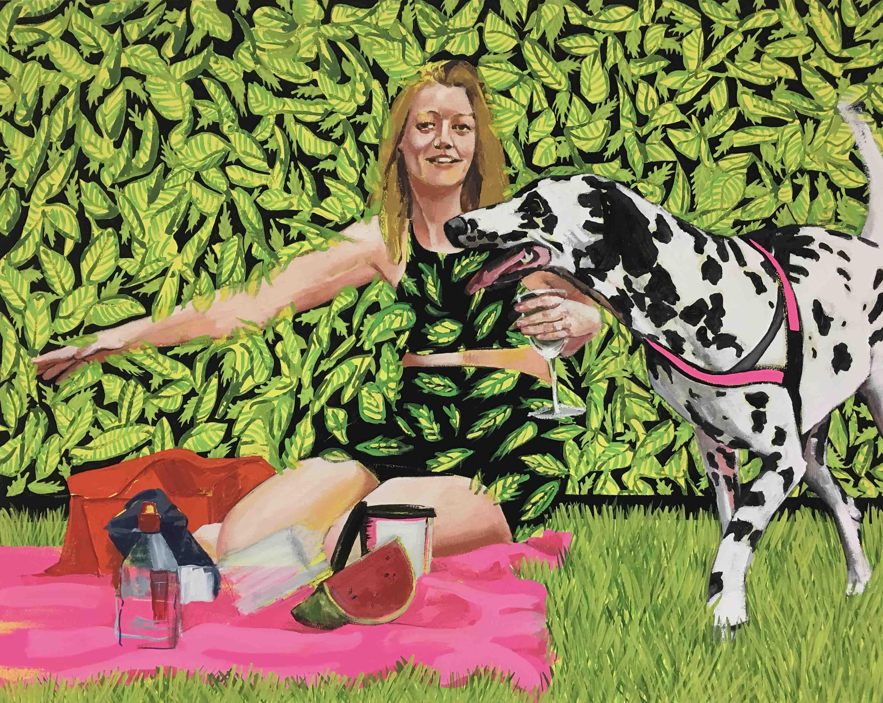 greener grass / 91 x 72 cm / mixed media on canvas / 2016