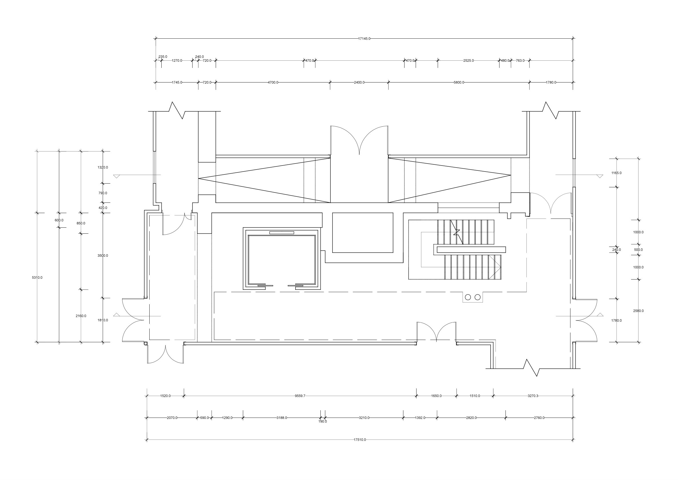 Technical Drawing by hand of a Plan.