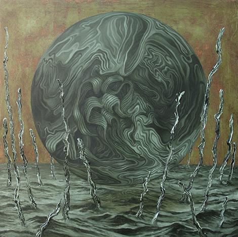 Globe 2014, Oil on Panel by James Pimperton.