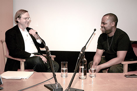 Robert Storr in conversation with David Bailey at Tate in 2008.