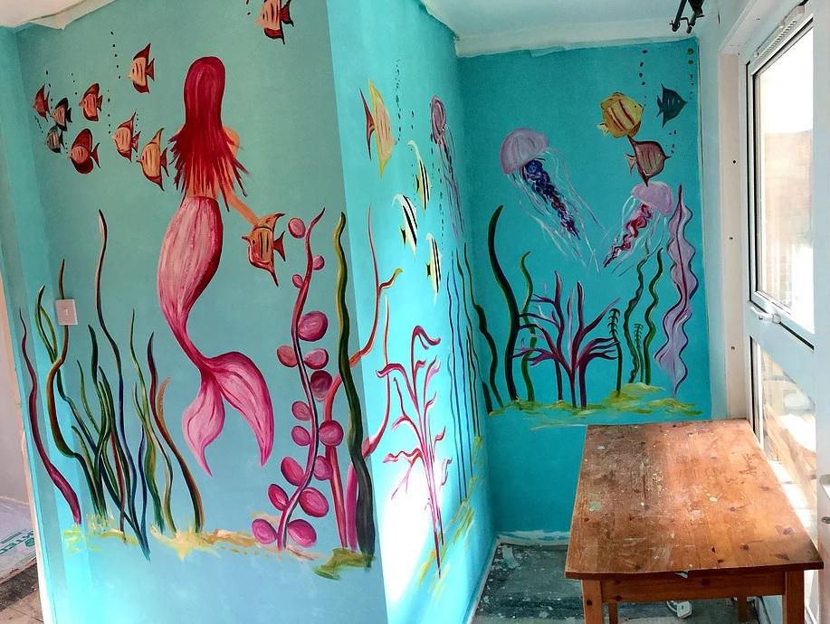Ciara's underwater themed children's bedroom for CM Design