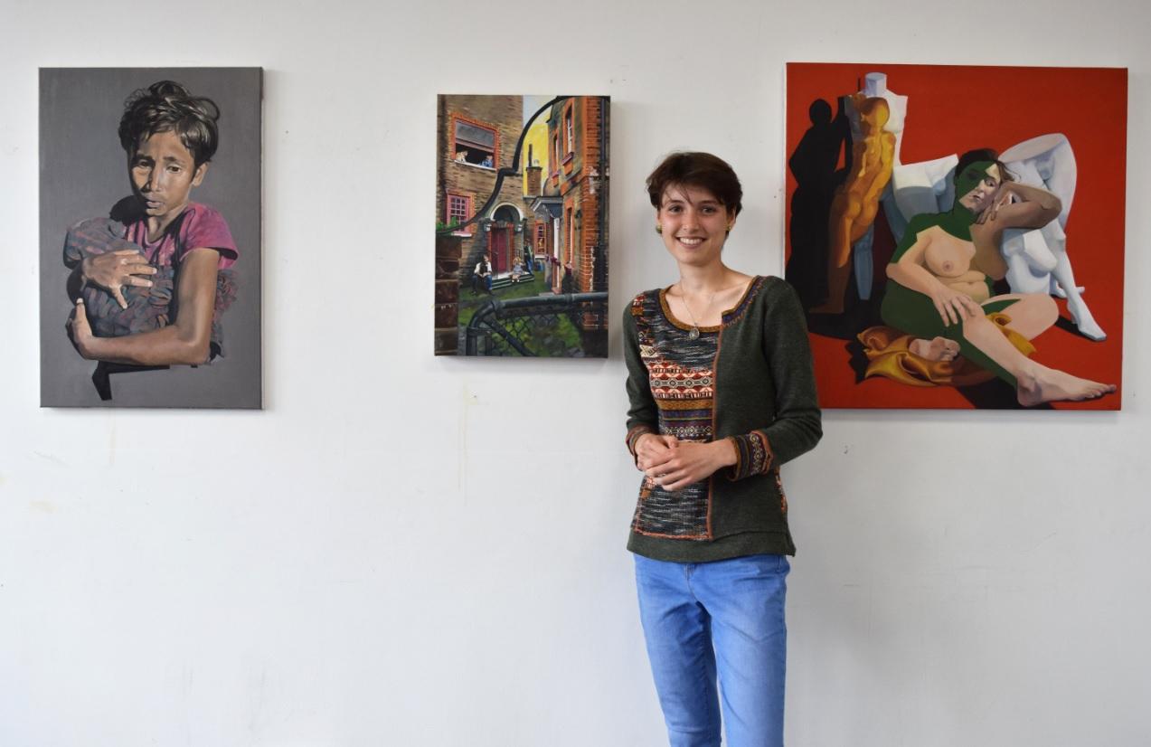 Maura Polano with her winning works