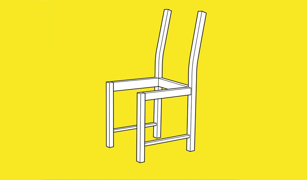 Uncomfortable Chair by Win Tianli Liu (cover illustration for Critical Design in Context)