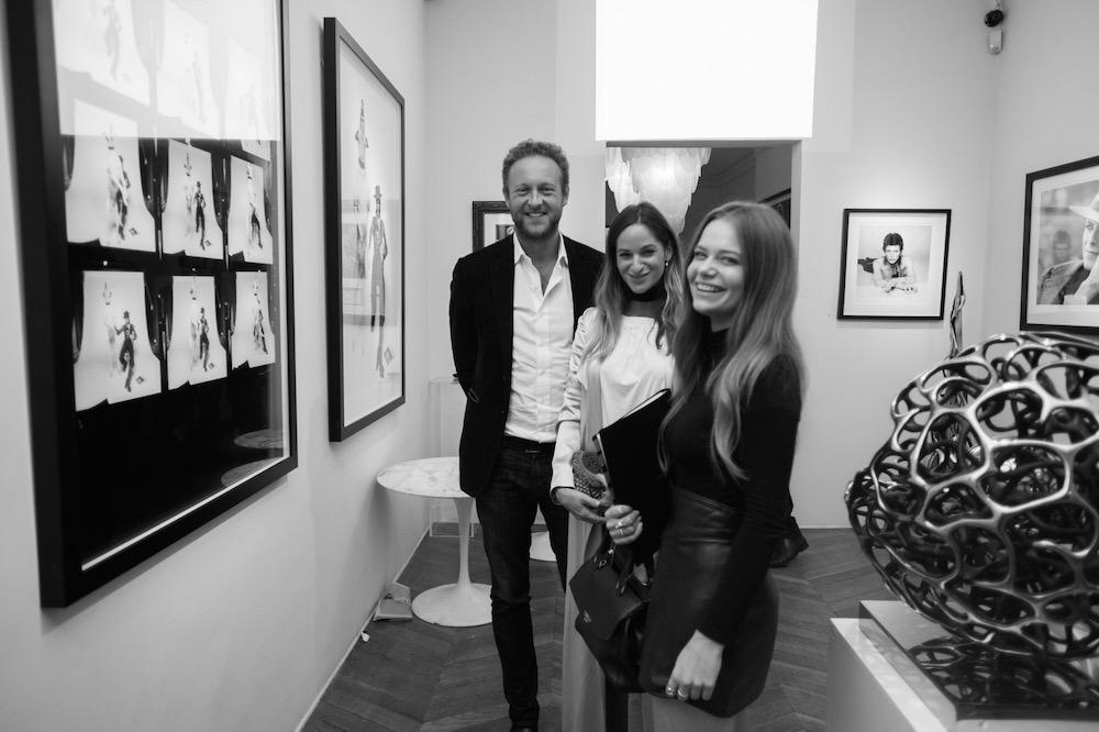Fashion Illustration graduate Nina Miles Hilpern at Ransom Art Gallery.