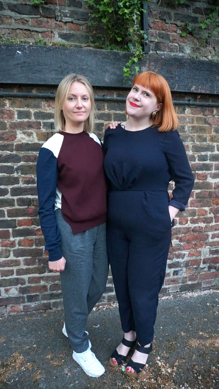 Editor in Chief of The Gentlewoman Penny Martin, with LCF Senior Research Fellow Susanna Cordener