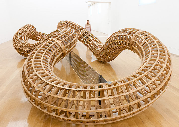 Richard Deacon After 1998, Wood, stainless steel, aluminium and resin.  Tate. Purchased from funds provided by CGNU plc 2002.  Photocredit: Tate Photography