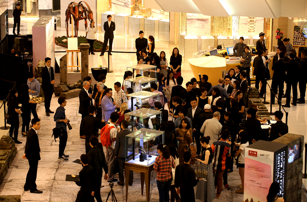 The exhibition of student jewellery
