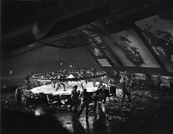 Photograph War Room covered in pies Image from the Stanley Kubrick Archive held at the University of the Arts London supplied with thanks to the SK Film Archives LLC, Sony Colombia, the Kubrick family, and University of the Arts London