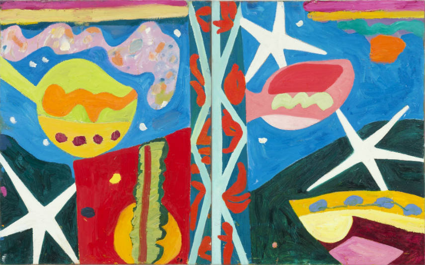 Gillian Ayres: Laughter's Silvered Wings 2014. Image courtesy of Timeout.com