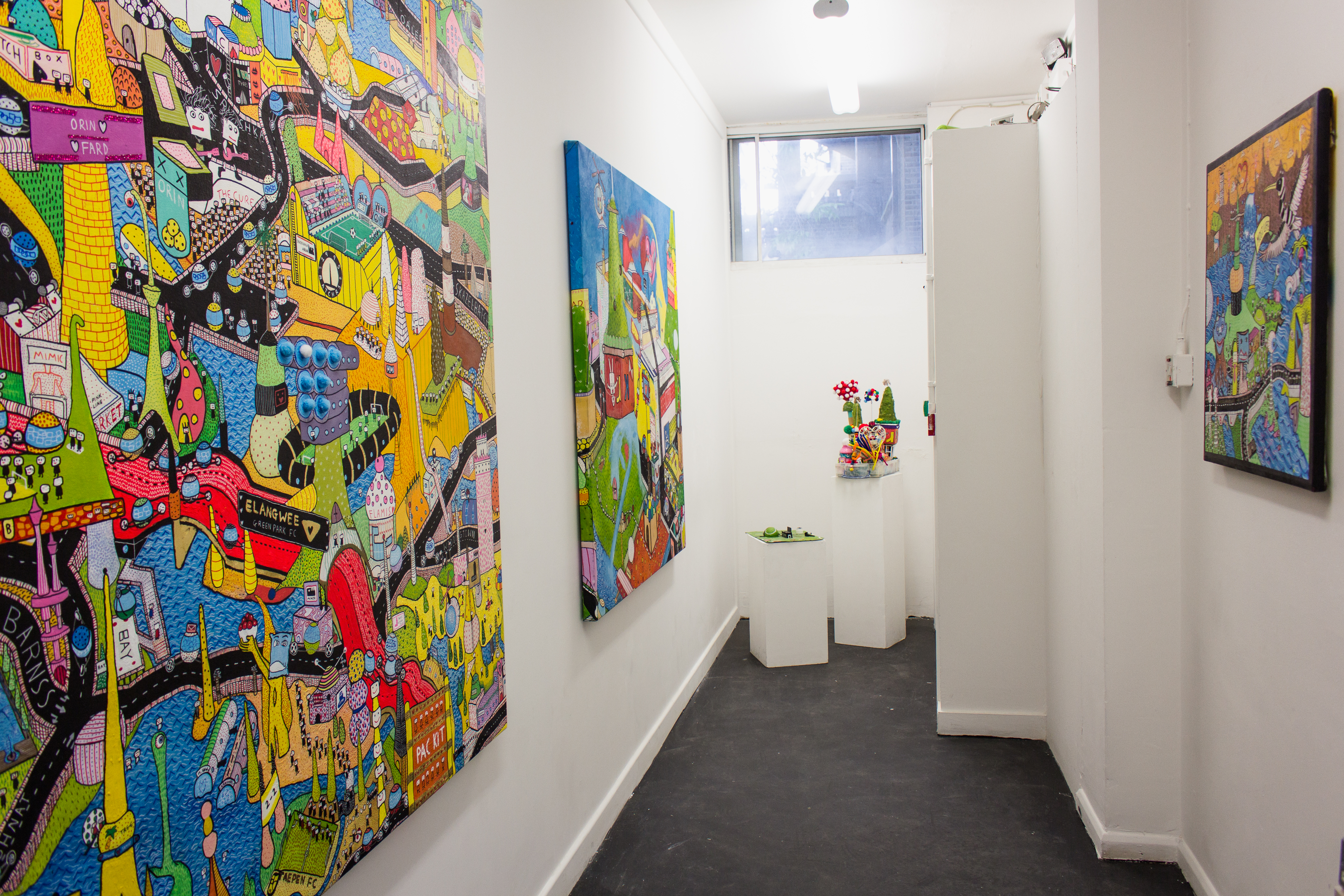 Jack Waddington's solo exhibtion 'Packit'