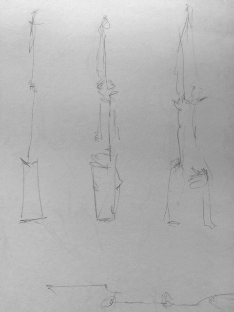 Circus Drawing by first year Drawing student Christina Rhiant at the Circus Space Workshop
