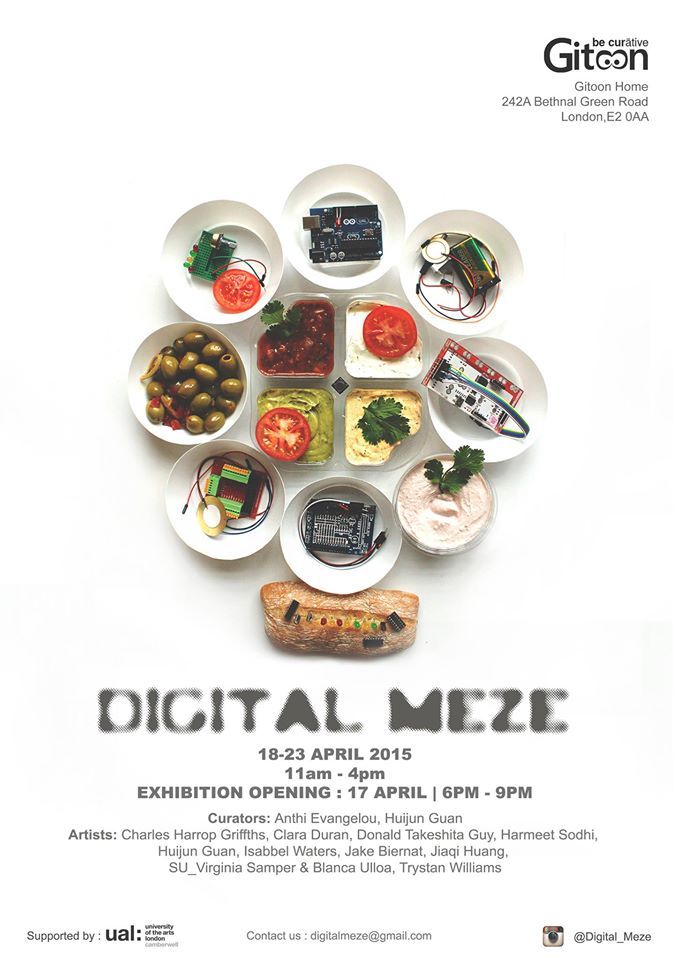 'Digital Mezze' exhibition poster