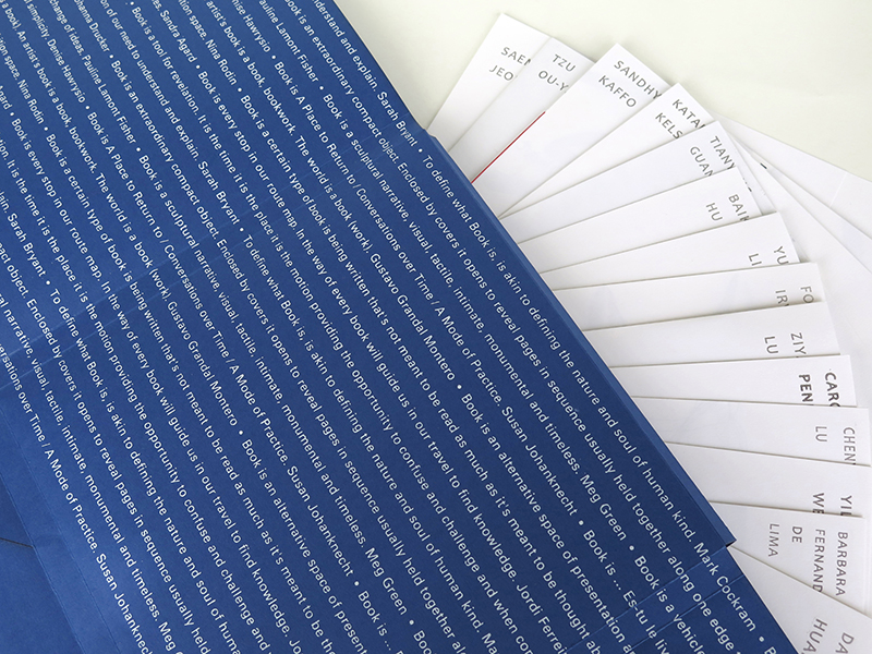Hand-made catalogue for the Cmaberwell Book Arts degree show, 2015.