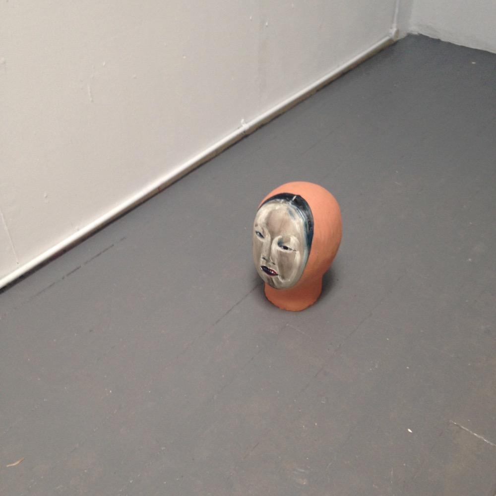 Head with a mask by Nikoleta Martjanova