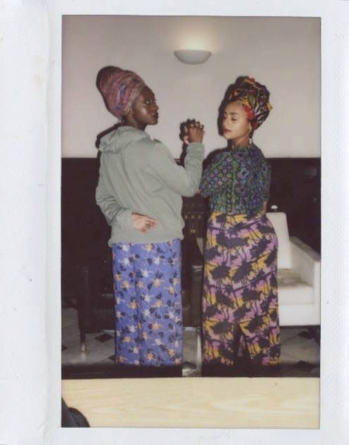 Polaroid photo taken during the Black Arts workshop, a collaboration between Alaa Kassim, Tracy Abena Owusu and Farrukh Akbar, photographed by Farrukh Akbar. Previous image: Work by Kofo Williams.