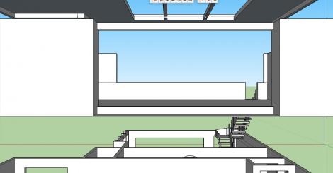 Sketchup detail of studio.