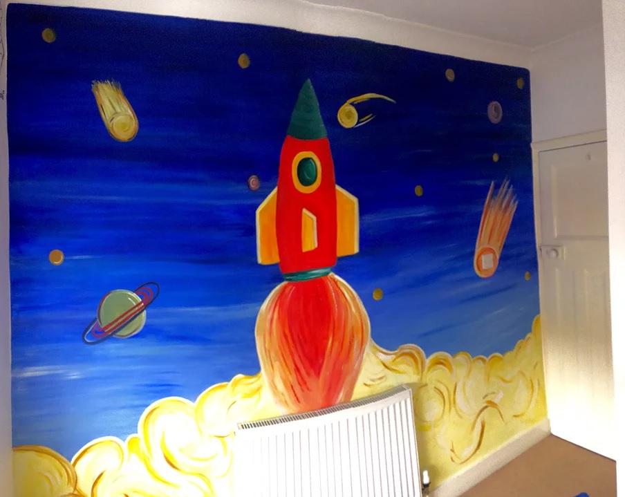 Ciara's 'rocket room' mural design