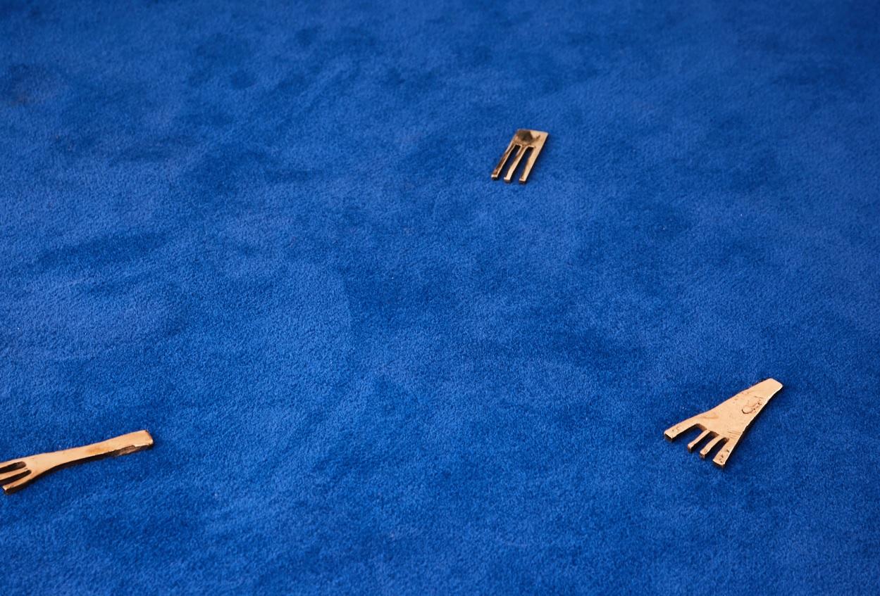 A close-up shot of Imann Gaye's Summer Show work