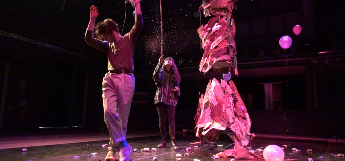 Image from the performance of Worthy of the World designed, produced and directed by Sally Somerville-Woodiwis.