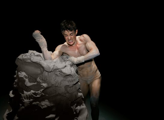 Performance still from Cassils' Becoming an Image
