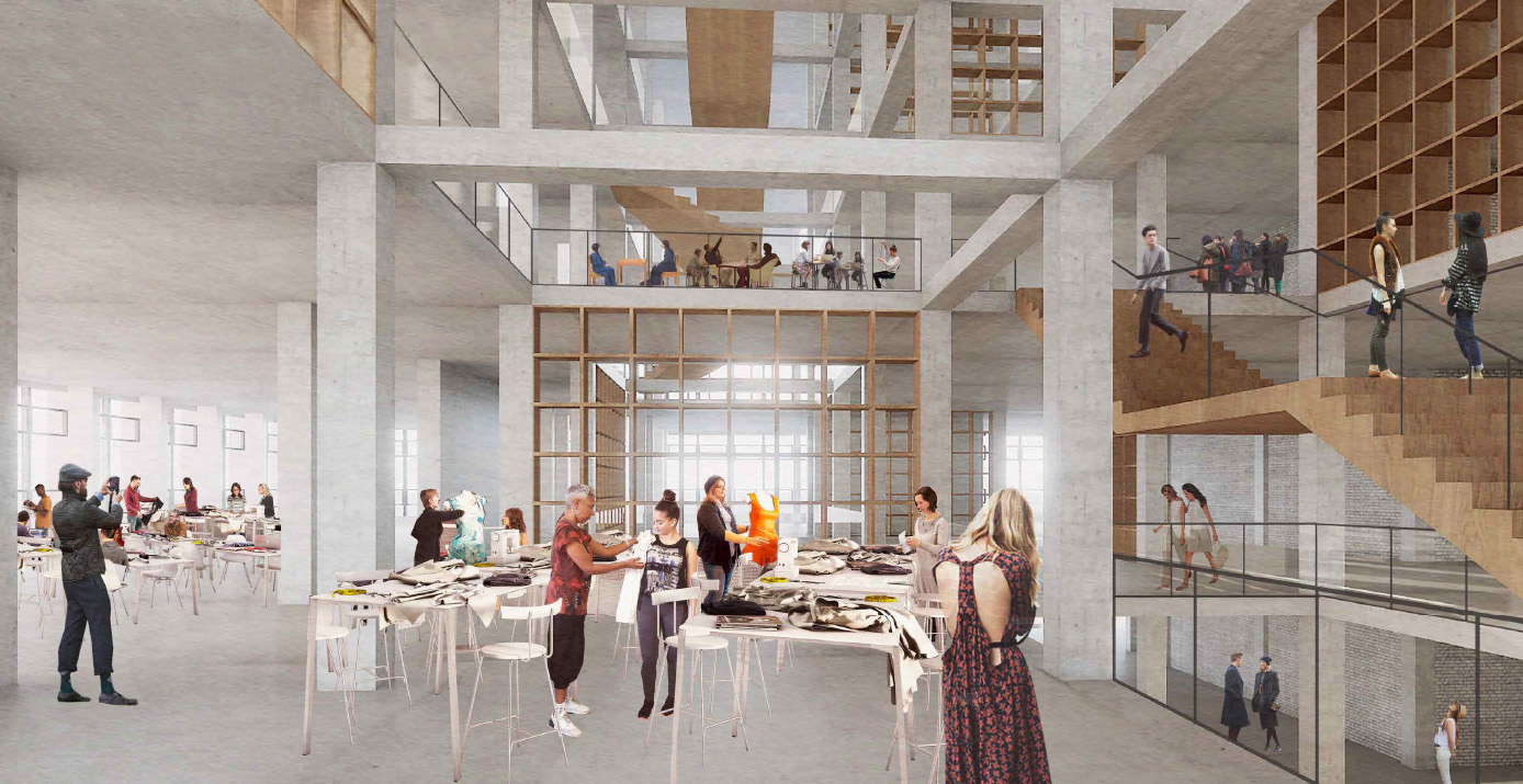 Double height hub areas and an open central stair case will reveal the hive of activity taking place at different levels.