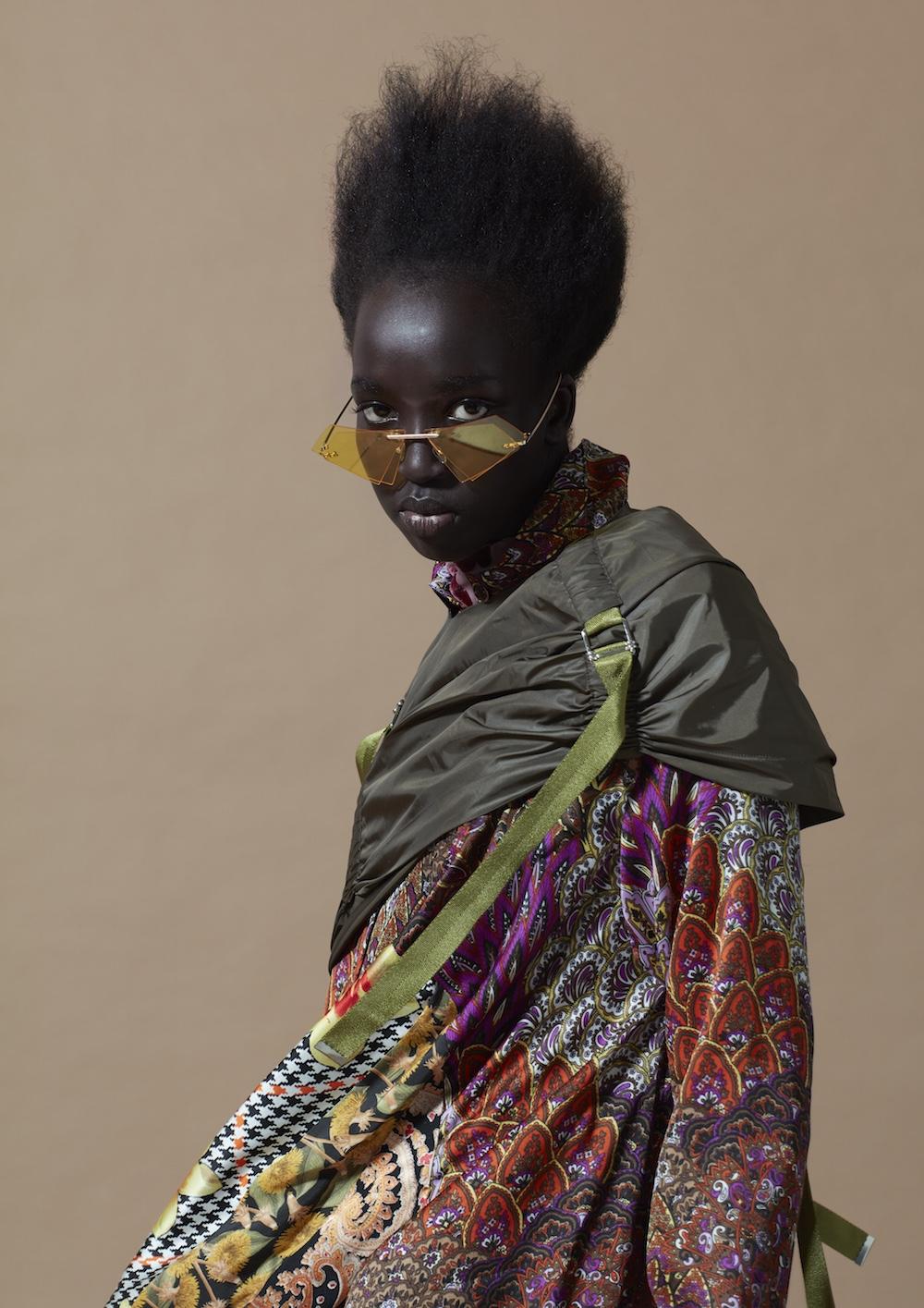MA Womenswear Design Technology graduate Feiyi Shuai. Photographer Alyssa Boni and Stylist Adele Cany.