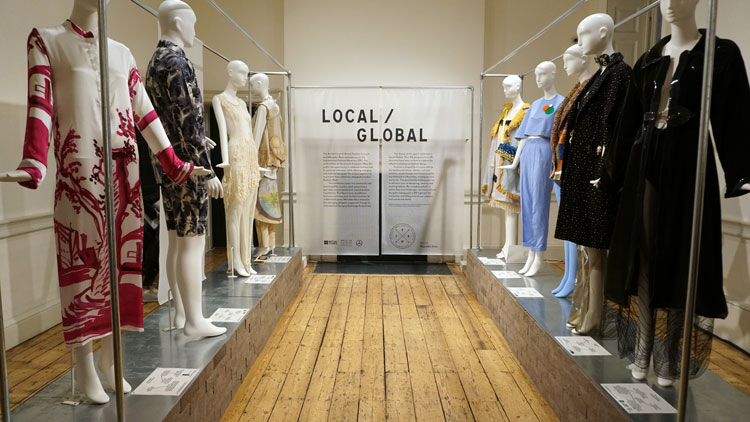 Entrance to the West Wing Galleries. Curated by MA Fashion Curation alumna Shonagh Marshall