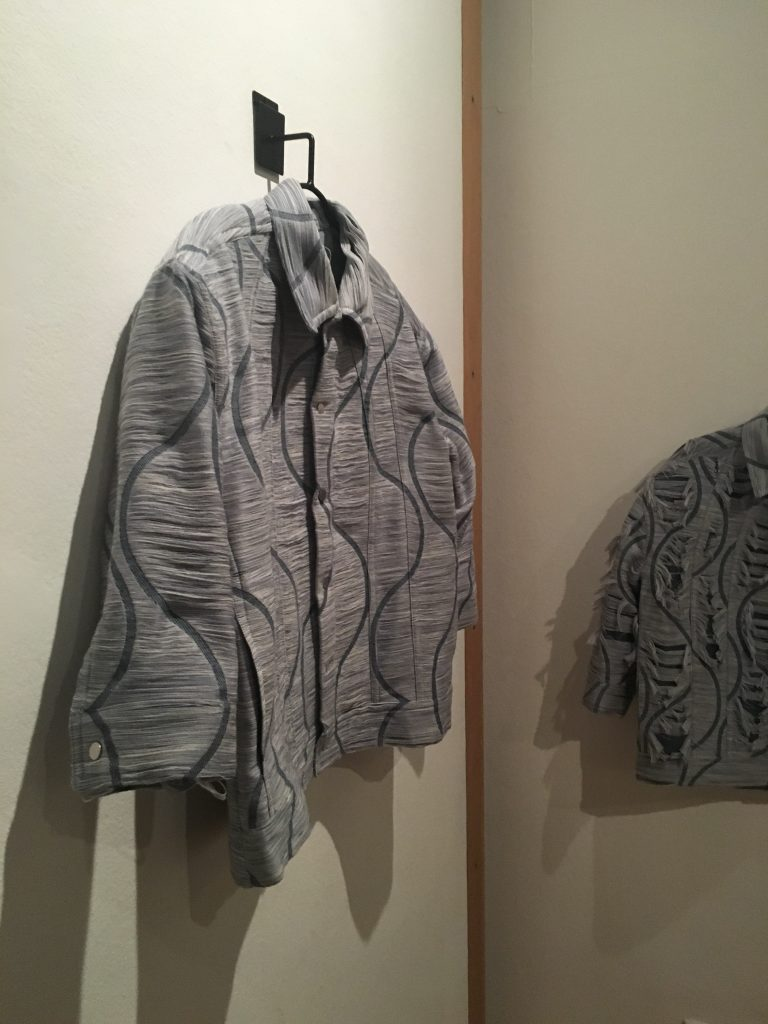 Collaborative design by alumni Emma Fenton Villar (MA Fashion Design Technology Menswear) and Erica Weide (BA (Hons) Fashion Textiles: Print).