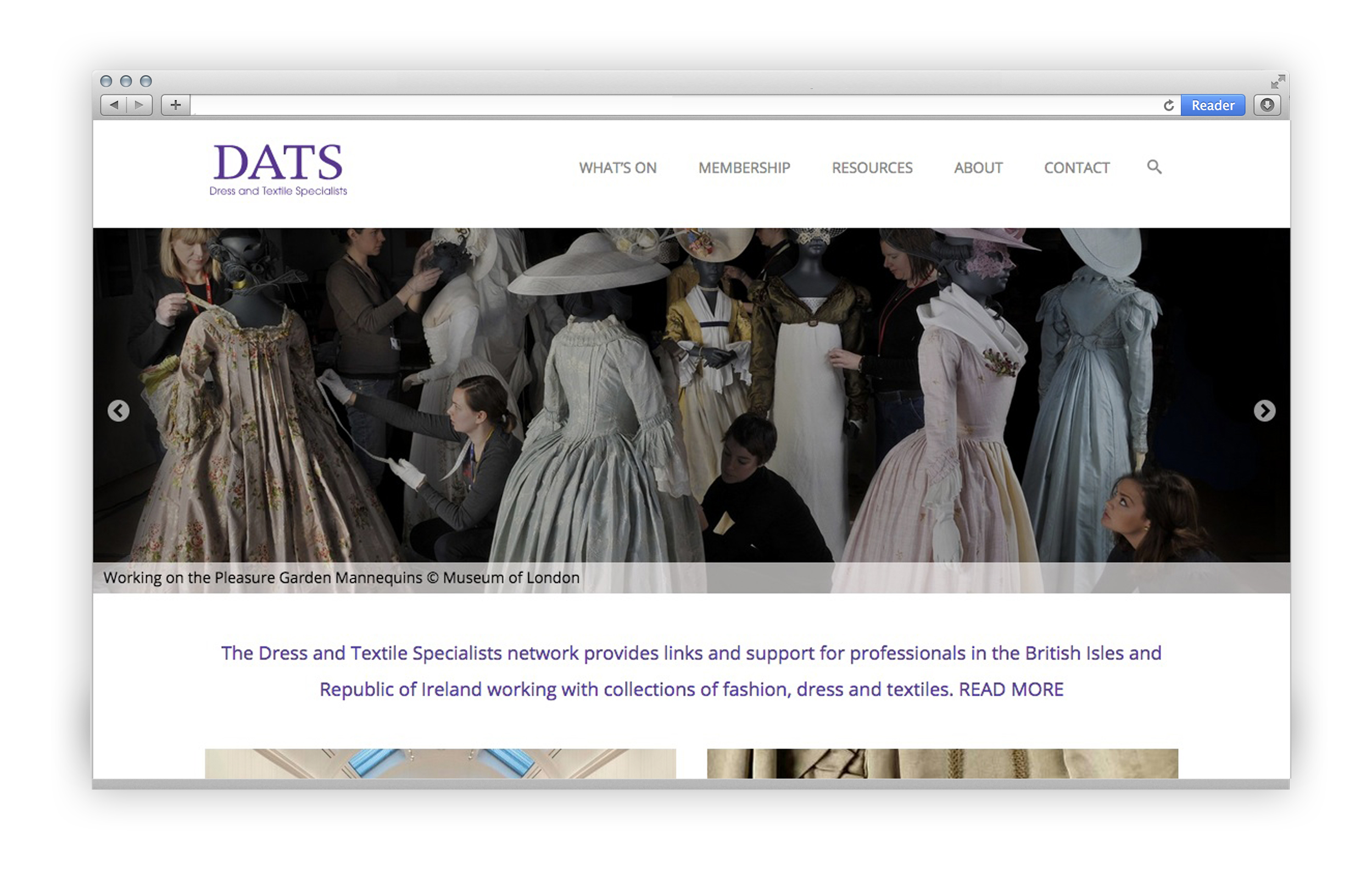 Website for Dress and Textiles Specialists 2015