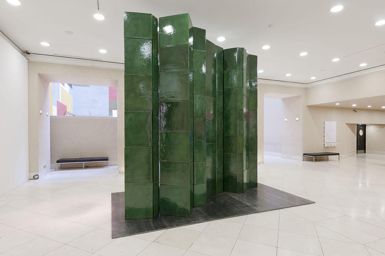 Richard Deacon, Fold 2012 installation at Tate Britain.  Photocredit: Tate Photography, Lucy Dawkin