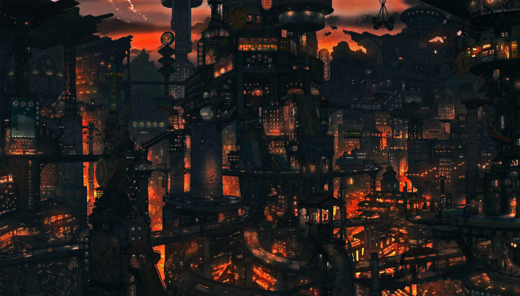 Imperial Boy City Scape Night