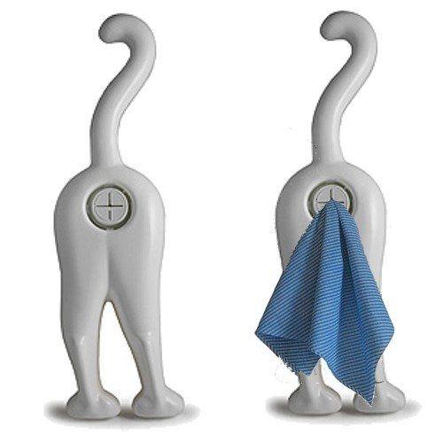 Designs that make you smile cat tea towel holder