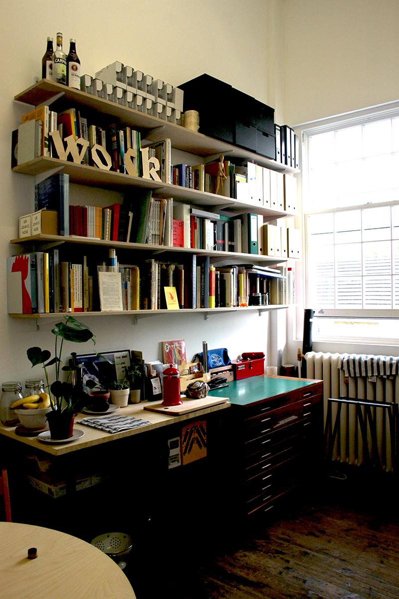 Inside of work-form's studio in Peckham